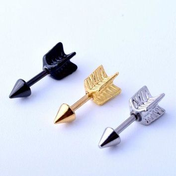 ac DCCKO2Q 1 Piece Fashion Arrow Ear Eyebrow Piercing Jewelry Hand 316L Stainless Steel Cartilage Helix Body Jewelry