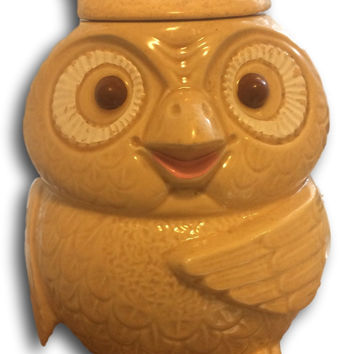 Happy Vintage McCoy Woodsy Owl Cookie Jar