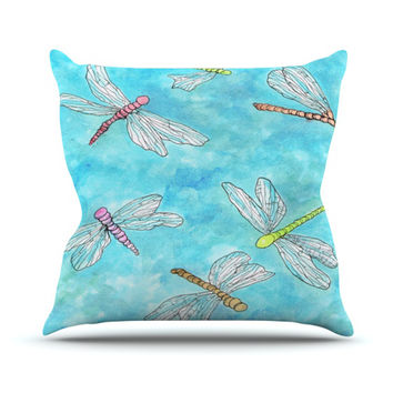 "Rosie Brown ""Dragonfly""  Throw Pillow"