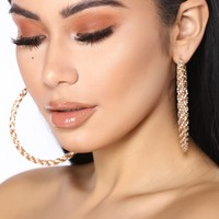 Greatest Glam Hoop Earrings  - Gold