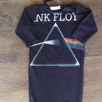 Pink Floyd band newborn baby gown Onesuit with knot hat