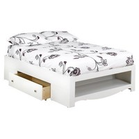 Nexera 315403 Dixie/Pixel 2-Drawer Storage Bed, Full, White