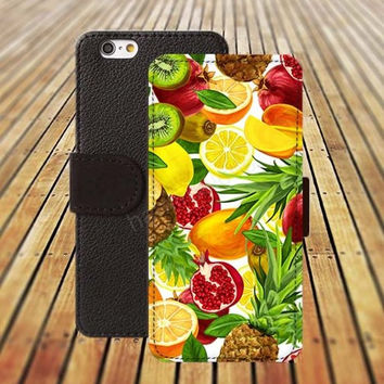 watercolor Oil fruit iphone 5/ 5s iphone 4/ 4s iPhone 6 6 Plus iphone 5C Wallet Case , iPhone 5 Case, Cover, Cases colorful pattern L059