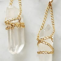 by boe Wrapped Quartz Earrings