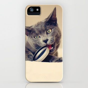 Russian Blue cat iPhone Case by Anne Staub | Society6