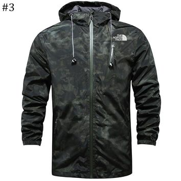 The North Face 2018 new camouflage breathable and quick-drying outdoor windproof thin zipper jacket #3