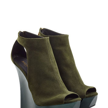 Suede Wedge Sandals - Balmain | WOMEN | US STYLEBOP.COM