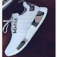 Adidas Nmd White Contrast Camouflage Green Fashion Men Running Sport Casual Shoes Sneakers G Aa Sddsl Khzhxmkh