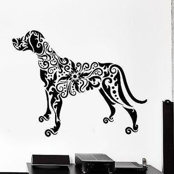 Wall Decal Pets Dog Animal Ornament Tribal Mural Vinyl Decal Unique Gift (z3306)