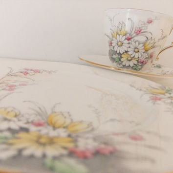 Vintage Paragon China tea cup saucer and plate by peonyandthistle