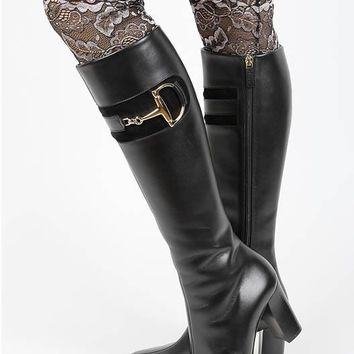 LEG WARMER TWO TONE LACE BOOT TOPPER LUCITE STONE ACCENT