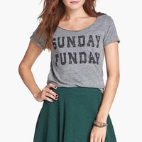 Project Social T 'Sunday Funday' Tee (Juniors) | Nordstrom