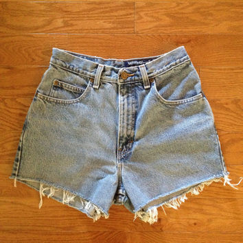 Super Cute Light High Waisted Cheeky Jean Shorts