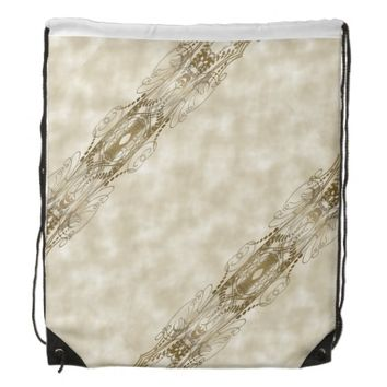 Golden Pillars Drawstring Backpack