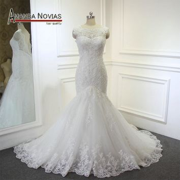 New Arrivals Wedding Dress Mermaid Elegant Lace Wedding Gown