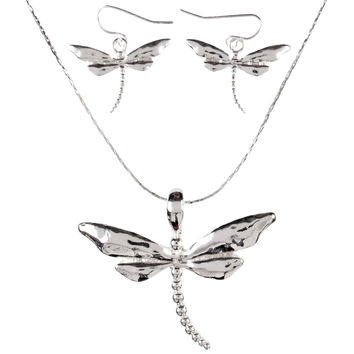 Dragonfly Body Necklaces & Earrings Set