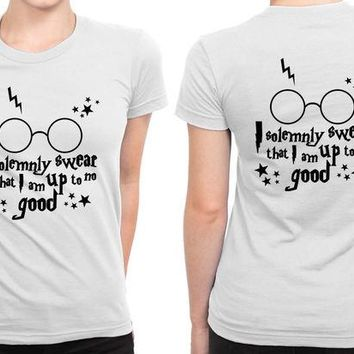 VONEED6 Harry Potter I Solemnly Swear That I Am Up To No Good B 2 Sided Womens T Shirt