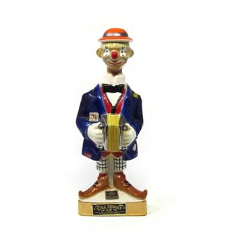 Ezra Brooks Colorful Clown Liquor Decanter 1971 Heritage China
