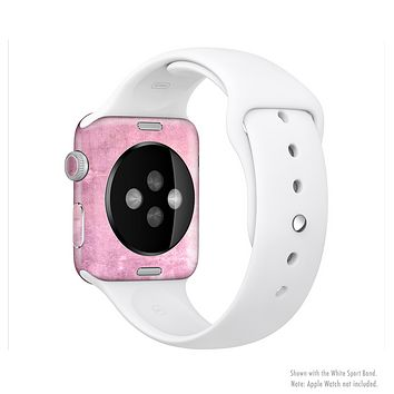 The Pink Grungy Surface Texture Full-Body Skin Set for the Apple Watch