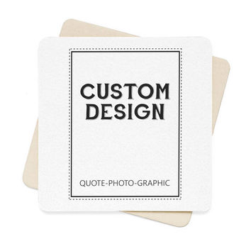 Personalized Square Paper Coaster Set 6 Pcs - Custom drink coasters - Unique coasters for wedding - coasters with photos / picture cats dog