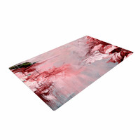 "Ebi Emporium ""Winter Dreamland 5"" Red Gray Woven Area Rug"