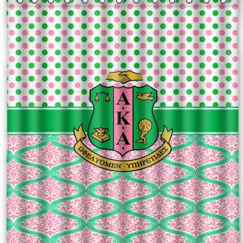 Sorority Shower Curtain - Alpha Kappa Alpha
