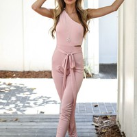 Sweetest Thing Pink One Shoulder Jumpsuit