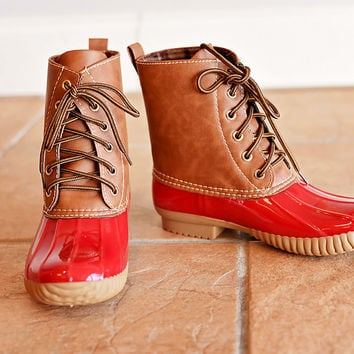 Jango Duck Boot Red