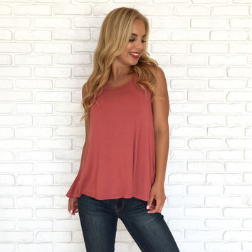 Lolita Drape Jersey Top In Salmon