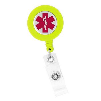 Badge Holder Nurses Retractable Star of Life Think Medical 01804