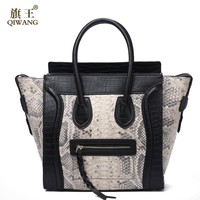 Women Classic Luxury Real Leather Smiling Face Bag Chamois Handbags Bat Wings Lady Smiley Tote Bags Famous Purse Brand