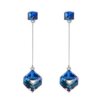 Infinity Love Dangle Earrings With Blue Swarovski Crystals, Jewelry For Women Gifts For Mom