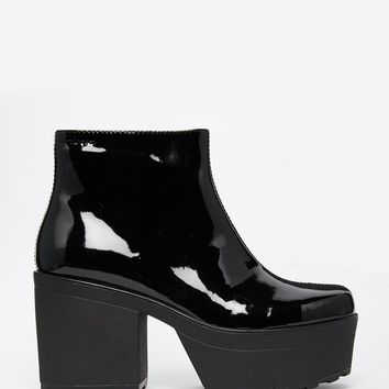 Vagabond | Vagabond Norah Black Patent Leather Ankle Boots at ASOS