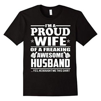 Proud Wife Of Awesome Husband   Couple Gift Shirt