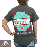 Southern Couture Preppy Tied Together Cajun Roots T-Shirt