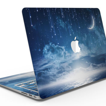 Vivid Blue Falling Stars in the Night Sky - MacBook Air Skin Kit