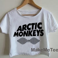 New Arctic Monkeys Band Printed Crop top Tank Top Women Black and White Tee Shirt - MM2