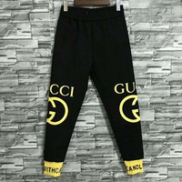 GUCCI autumn and winter models casual wild men's long paragraph pants