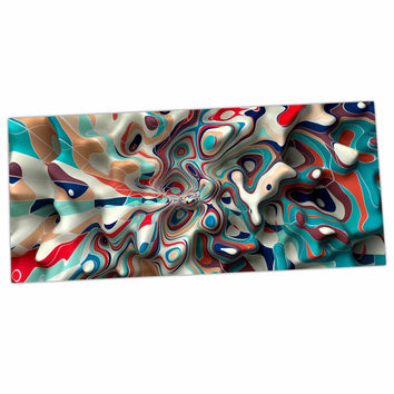 "Danny Ivan ""Weird Surface"" Blue Red Desk Mat"