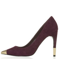 GOLLY Metal Toe Court Shoes - Burgundy