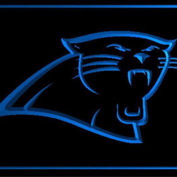 b-167 Carolina Panthers Super Bowl beer bar pub club 3d signs LED Neon Light Sign man cave