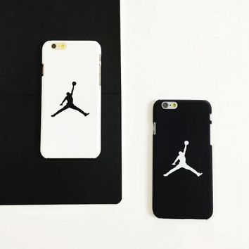 Cool Black & White Jordan Print Iphone X 8 8 Plus & 7 7plus & 6 6s Plus Cover Case