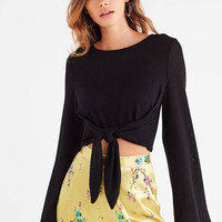 UO Tanner Tie-Back Cropped Sweater   Urban Outfitters