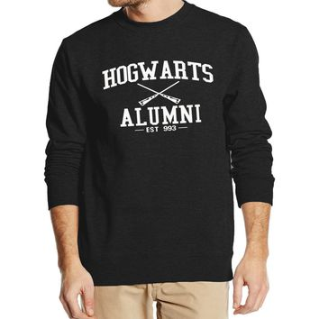 Hot Sale Inspired Magic Hogwarts Alumni print Men Hoodies 2016 autumn winter style man sweatshirts hip hop style hooded