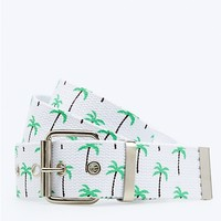 Palm Tree Web Belt