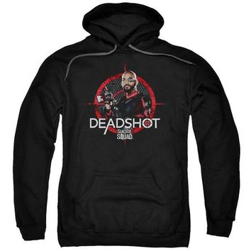 ac spbest Suicide Squad - Deadshot Target Adult Pull Over Hoodie