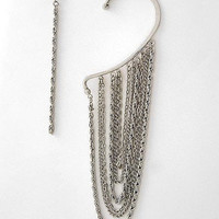 "30% off use promo code ""wanelo"" at checkout. Chain Gang Asymmetrical Earrings"