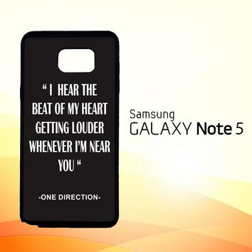 One Direction Lyrics R0263  Samsung Galaxy Note 5 Case