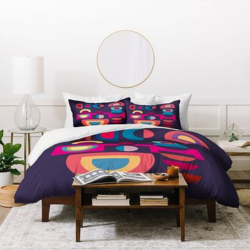 Viviana Gonzalez Geometric Colorplay 1 Duvet Cover