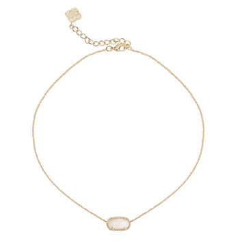 Kendra Scott Elisa Pendant White Mother of Pearl